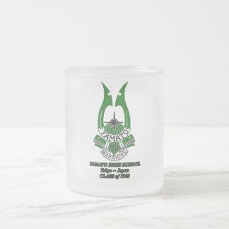 yamato high class of 1962 frosted glass coffee mug