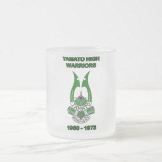 yamato high school japan frosted glass coffee mug