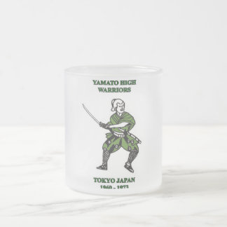 yamato high school warriors frosted glass coffee mug
