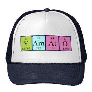 Yamato periodic table name hat
