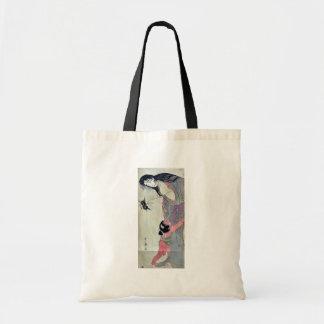 Yamauba holding chestnuts by Kitagawa,Utamaro Tote Bag