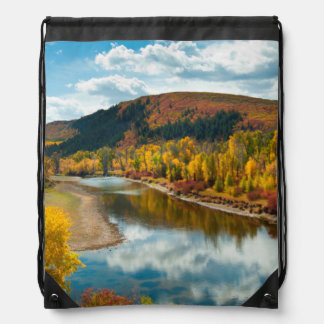 Yampa River In Autumn Drawstring Bag