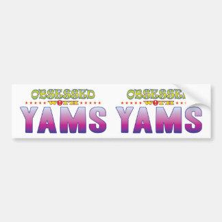 Yams 2 Obsessed Car Bumper Sticker