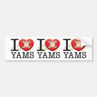 Yams Love Man Car Bumper Sticker