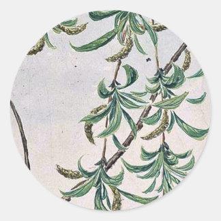 Yanagi - sauce/por Megata Morikaga Ukiyo-e Etiquetas Redondas