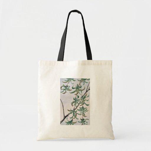 Yanagi - willow / by Megata Morikaga Ukiyo-e Canvas Bag