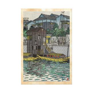 Yanagibashi en arte del hanga de Tokio Shiro Kasam Lienzo Envuelto Para Galerias