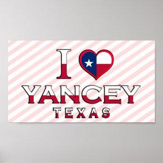 Yancey, Texas Print