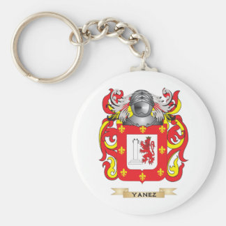 Yanez Family Crest (Coat of Arms) Basic Round Button Keychain