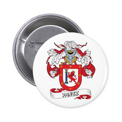 Yanez Family Crest Pinback Button