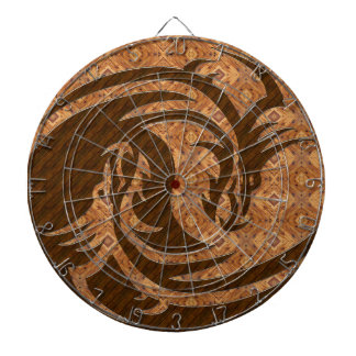 Yang and Yin wood dart board with numbers