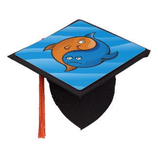 Yang Fish Cartoon Graduation Cap Topper