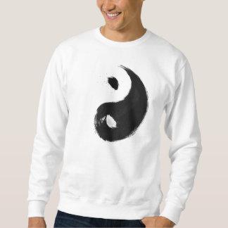 Yang - Ink   Basic, White Suéter Pullover Sweatshirt
