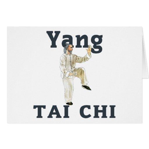 Yang Tai Chi Greeting Card