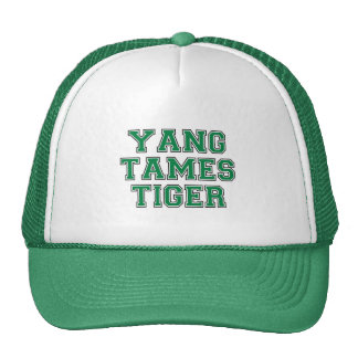 Yang tames tiger trucker hat