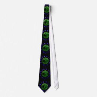 yang y árbol ying de azul de la vida y verde de corbatas