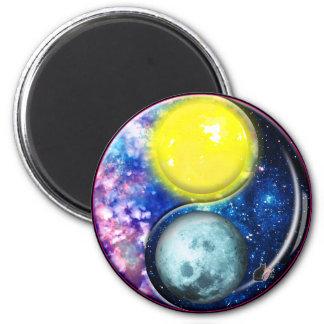 Yang-Yin/imán de la Sun-Luna Imán Redondo 5 Cm