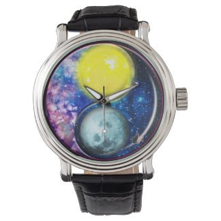 Yang-Yin/Sun-Luna Relojes De Mano