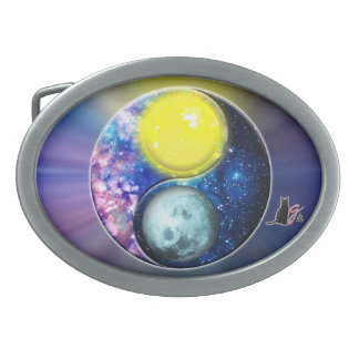Yang-Yin / Sun-Moon Oval Belt Buckle
