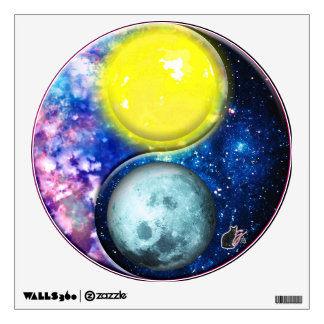"""Yang-Yin / Sun-Moon """"PixPaneTM"""" Wall Decal"""