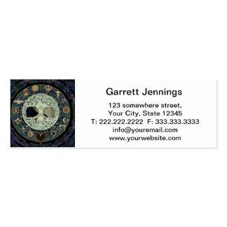 yang ying con símbolos religiosos tarjetas de visita mini