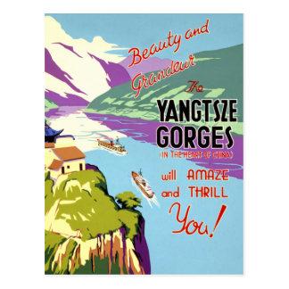 Yangtsze Yangtze Gorges China Vintage Poster Postcard