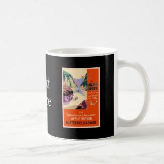 Yangtsze Yangtze Gorges China Vintage Travel Art Coffee Mug