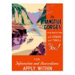 Yangtsze Yangtze Gorges China Vintage Travel Art Postcard