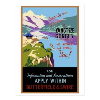 Yangtsze Yangtze River Gorges Vintage Travel Art Postcards