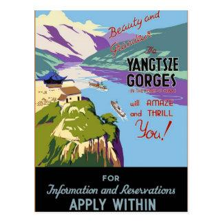 Yangtsze Yangtze River Gorges Vintage Travel Art Post Cards