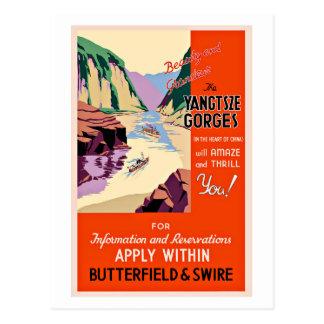Yangtze Gorges China Vintage Travel Postcard