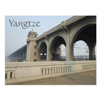 Yangtze River Bridge, Wuhan, Hubei, China Postcard