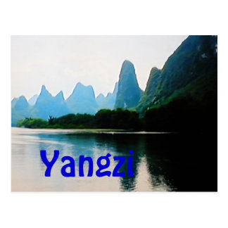 Yangtze River China postcard