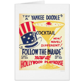 Yankee Doodle Cocktail 1938 WPA Cards