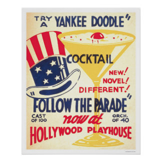 Yankee Doodle Cocktail 1938 WPA Poster