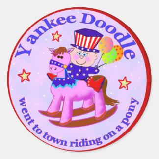 Yankee Doodle Dandy Classic Round Sticker