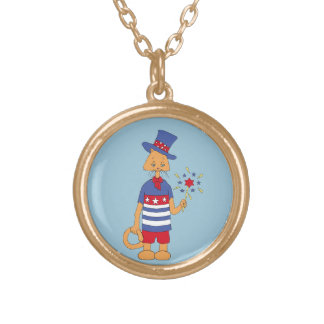 Yankee Doodle Dandy! Gold Plated Necklace