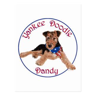 Yankee Doodle Dandy Pup Postcard