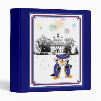 Yankee Doodle Penguin Binder
