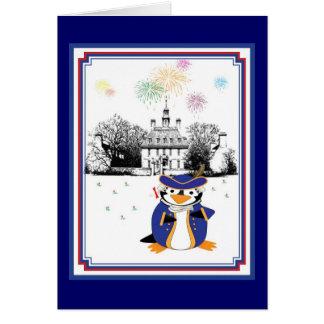 Yankee Doodle Penguin Card