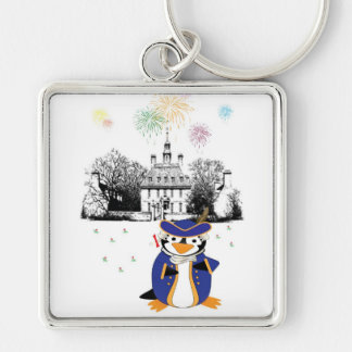 Yankee Doodle Penguin Keychain