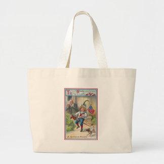 Yankee Doodle Vintage Fourth of July Jumbo Tote Bag