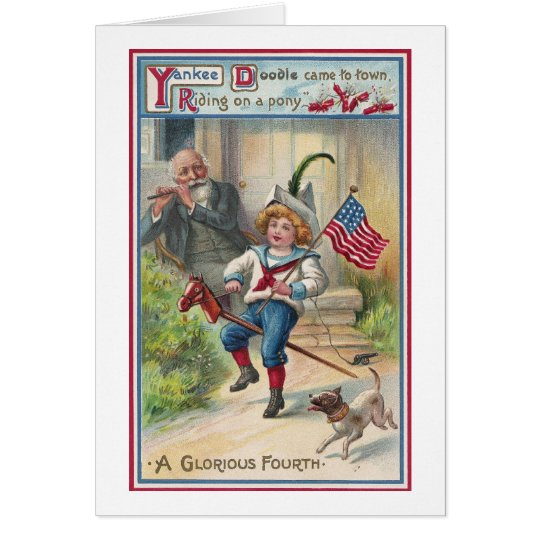 Yankee Doodle Vintage Fourth of July Card