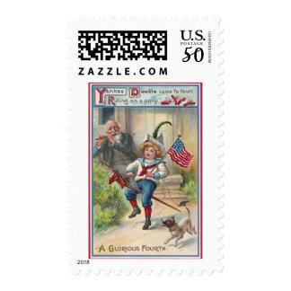 Yankee Doodle Vintage Fourth of July Postage