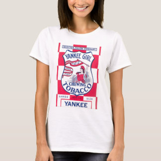 Yankee Girl Chewing Tobacco Image T-Shirt
