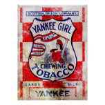 Yankee Girl Chewing Tobacco Print