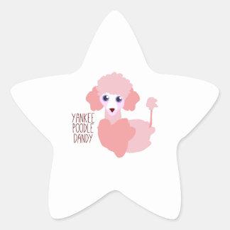 Yankee Poodle Dandy Star Sticker