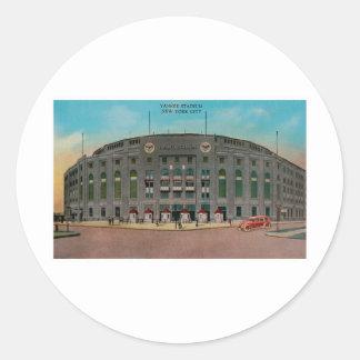 Yankee Stadium, New York City Pegatina Redonda