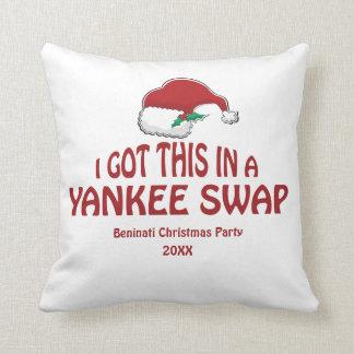 Yankee Swap Gift Throw Pillow