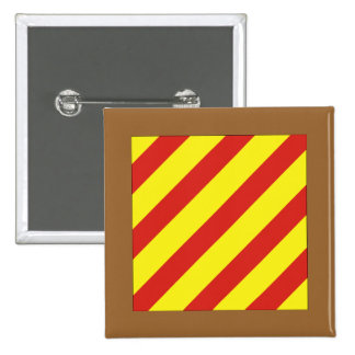 Yankee (Y) Signal Flag Pinback Button